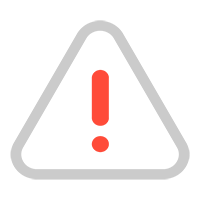 Ilustração com uma exclamação dentro um triângulo representando violação ao Código de Ética e Conduta Profissional do CIEE