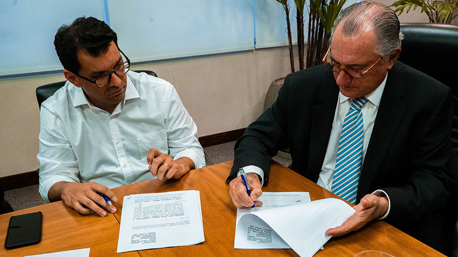 Fábio Silva, da Transforma Brasil, e Antônio Jacinto Caleiro Palma, Presidente do Conselho de Administração do CIEE