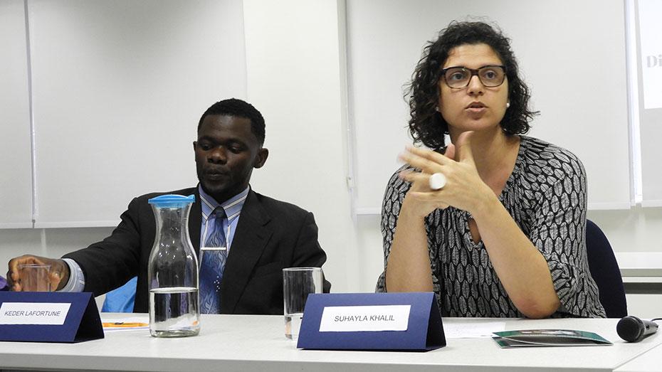 Mesa de debate da semana dos direitos humanos no espaço de Cidadania CIEE