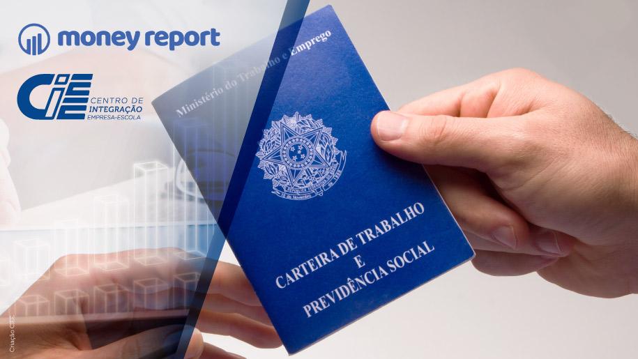 Capa do Money Report, carteira de trabalho