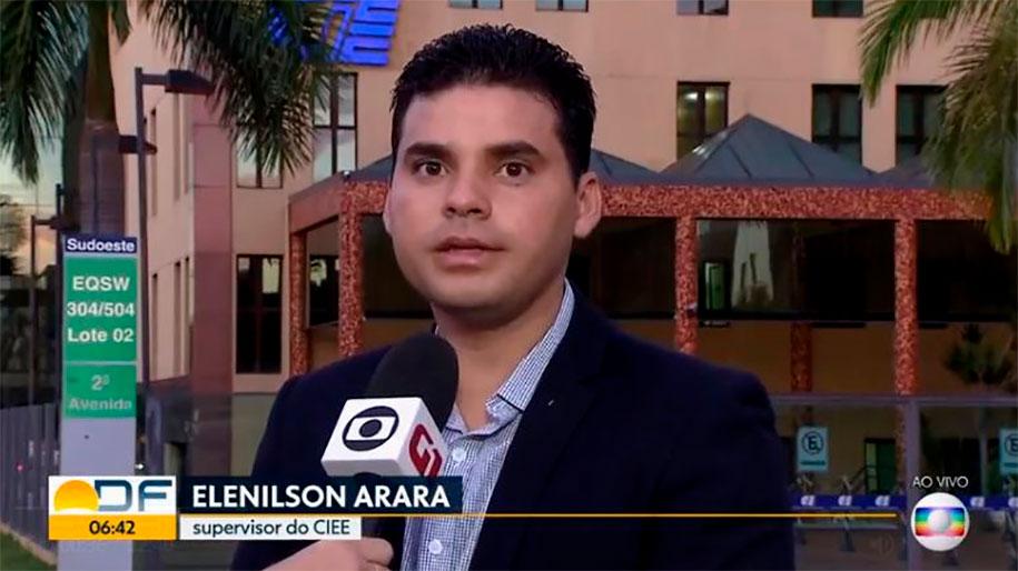 Elenilson Arara supervisor CIEE entrevista Bom Dia DF