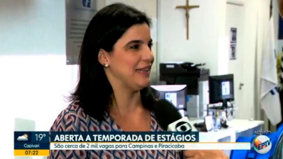 Luciana Bragil supervisora do CIEE em entrevista ao EPTV foto portal
