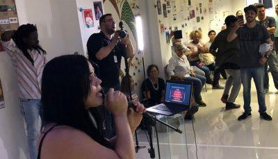 Sarau de Cidadania, no centro da capital paulista: espaço para todas as manifestações artísticas.