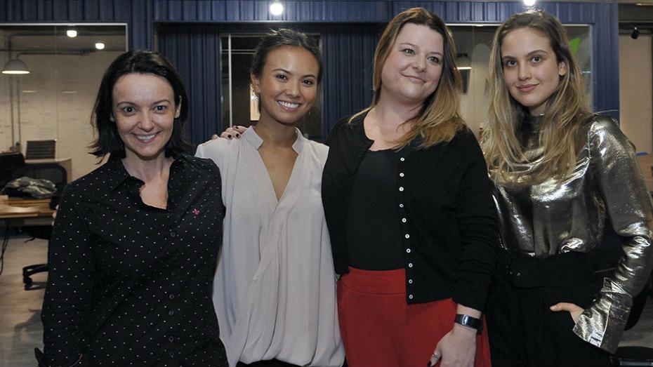 Alessandra Andrade, Sthephanie Stein, Cristiana Mango e Gabriela Silvarolli no Faap Talks de maio