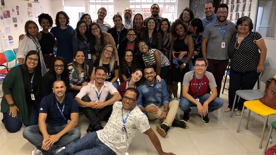 Participantes do encontro dos Espaços de Cidadania, na capital paulista.