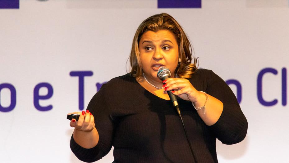Raquel Oliveira, representando o Centro de Excelência e Inovação em Políticas Educacionais da Fundação Getúlio Vargas (Ceipe/FGV).