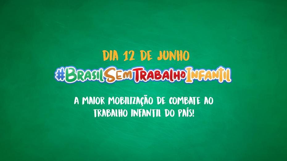 Banner de campanha combate ao trabalho infantil 12 junho 2019