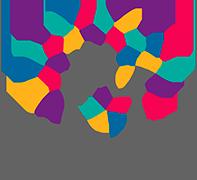Logomarca do Inclui CIEE, representando uma mão com diversas folhas coloridas