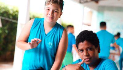 Jovens beneficiados pela ação da Samsung em Campinas/SP.