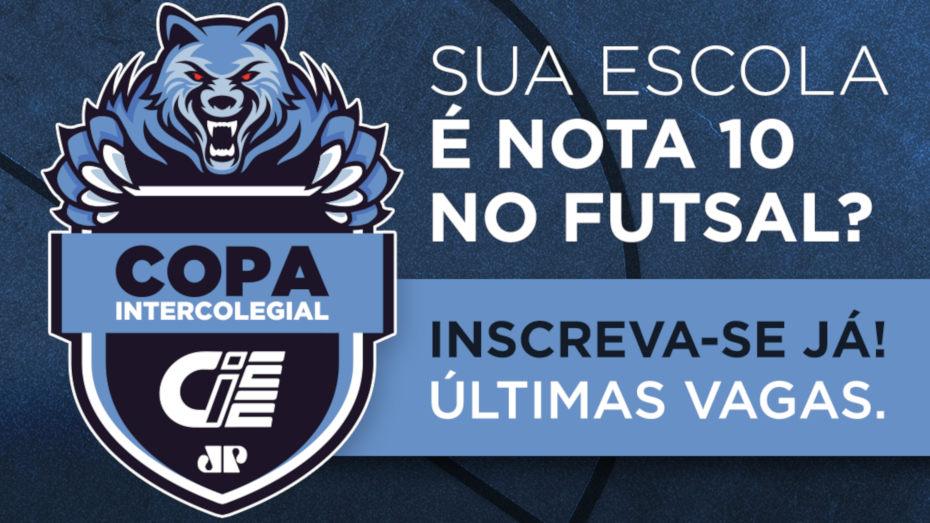 Imagem com a logomarca da Copa CIEE Jovem Pan do lado esquerdo. Na direita, o texto