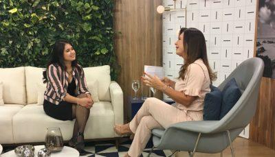 Patricia Testai conversa com Claudia em estúdio do programa Vida Melhor