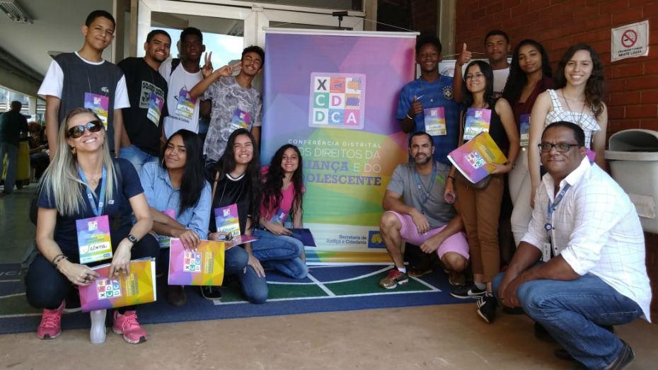 Jovens participam de Conferência dos Direitos da Criança e do Adolescente no Distrito Federal