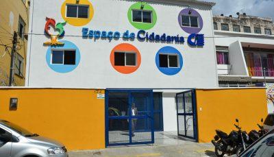 Fachada externa do Espaço de Cidadania em Salvador
