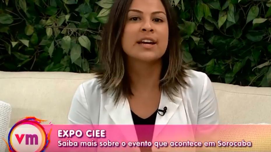 Milena Salomão, produtora de eventos do CIEE, em entrevista ao Programa Vida Melhor, da Rede Vida