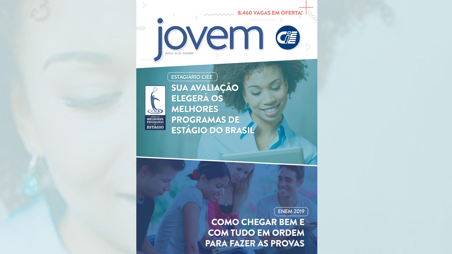 Capa da revista jovem CIEE 35