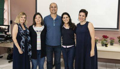 Ana Regina Noto, Carina Emy Kagohara, Luiz Carlos Mariano Souza, Tatiana Amato e Carla Zuquetto, equipe do projeto