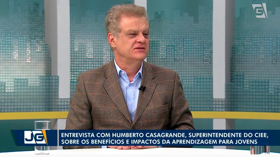 Humberto Casagrande participa de entrevista no Jornal da Gazeta