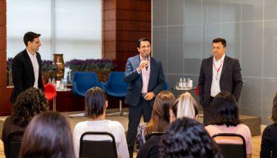 Rodrigo Dib, diretor executivo do PROA, Luiz Gustavo Coppola, superintendente Nacional de Atendimento do CIEE e Luiz Douglas, gerente Regional Grande SP e Capital