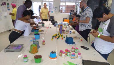 Conviventes do Espaço de Cidadania participam de atividades de férias