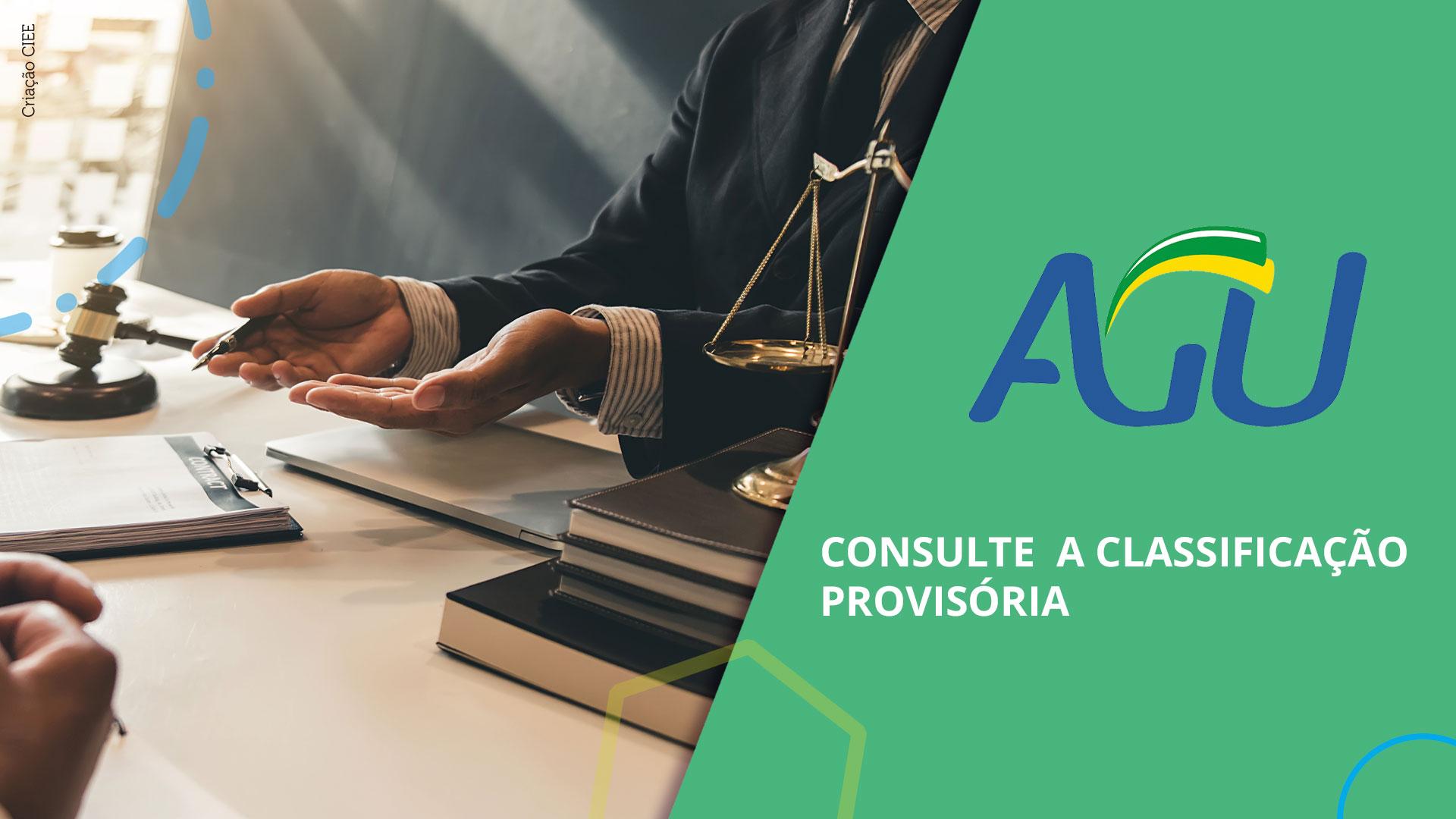 banner AGU classificação provisória