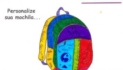 Em uma das atividades jovens desenharam o que 'querem levar na mochila'