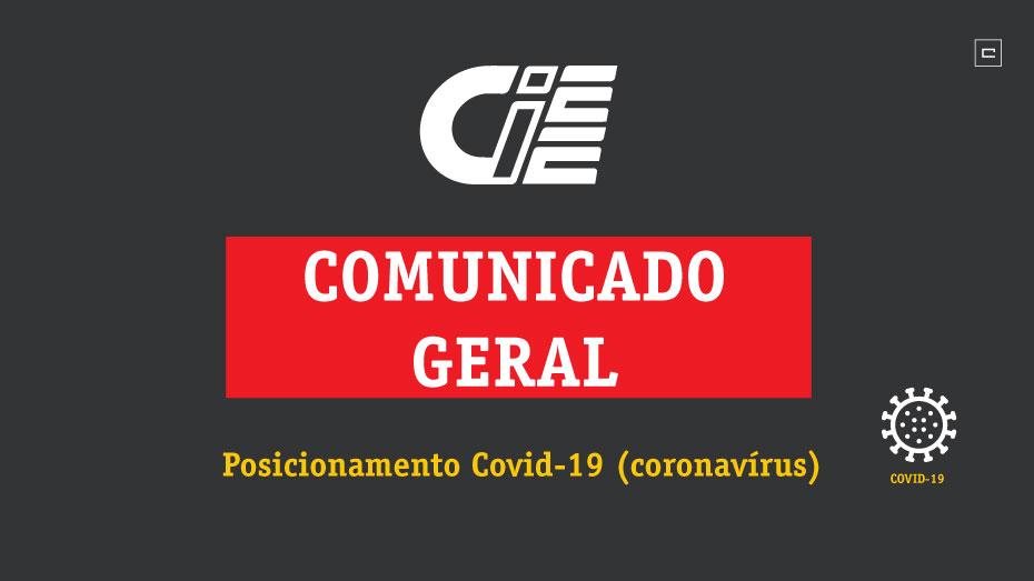 Comunicado Geral sobre o Covid-19