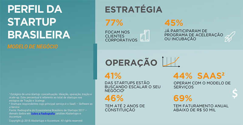 Infográfico do perfil da startup brasileira