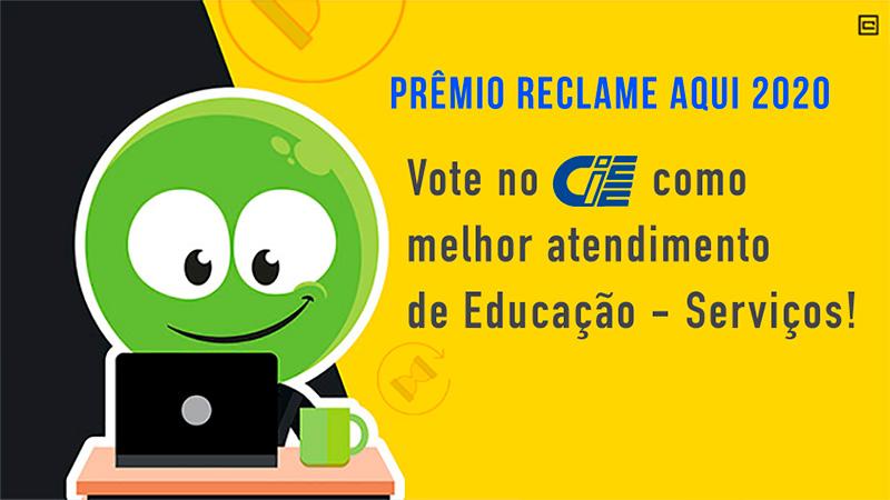Prêmio Reclame Aqui 2020 - Vote no CIEE como melhor antedimento de Educação - Serviços!