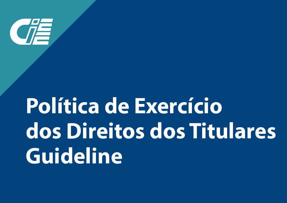 Política de Exercício dos Direitos dos Titulares - Guideline