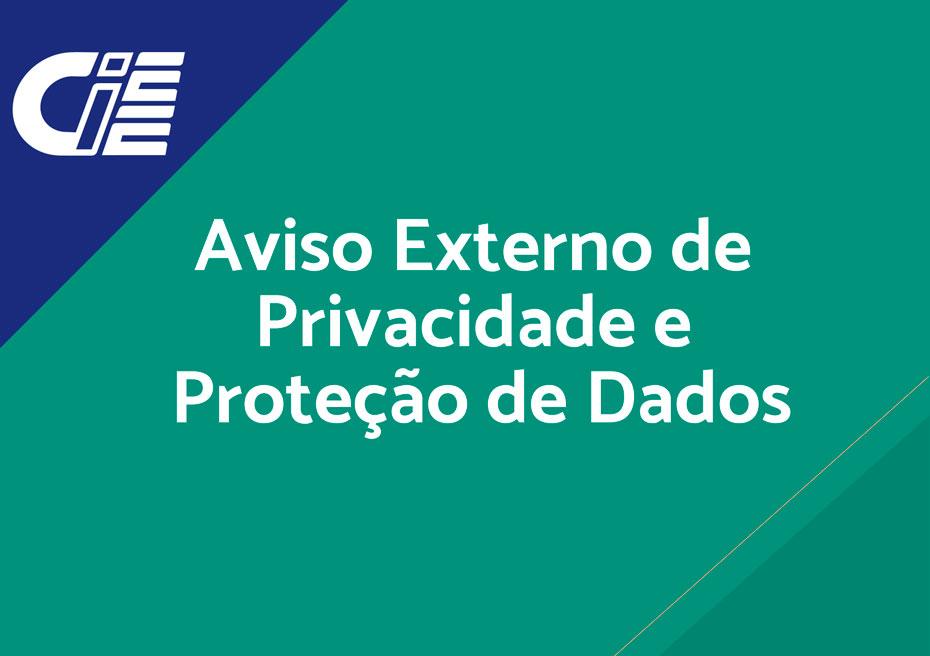 Aviso Externo de Privacidade e Proteção de Dados