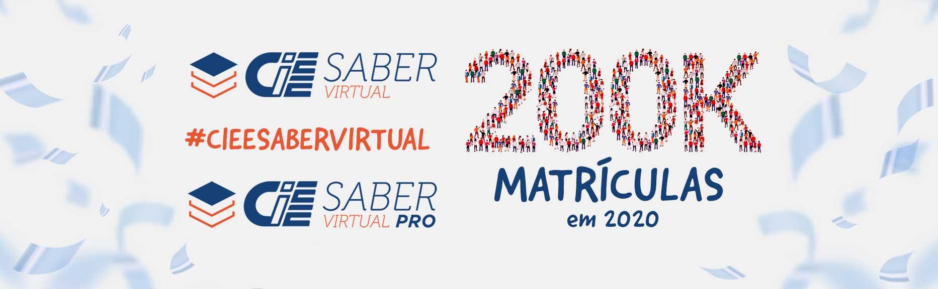 CIEE Saber Virtual - 200K matrículas em 2020