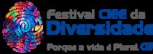 Logomarca do Festival CIEE da Diversidade, representado por uma impressão digital colorida e o texto Festival CIEE da Diversidade - Porque a vida é plural
