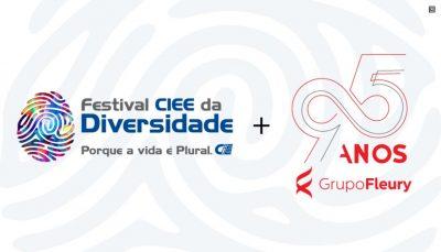 Logo do Festival da Diversidade e do Grupo Fleury, montagem